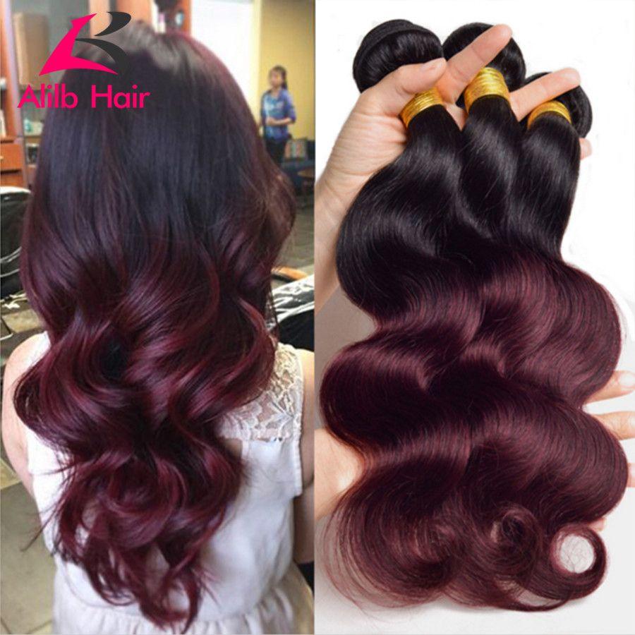 7a Ombre Brazilian Hair Brazilian Body Wave 3pcs Colored Two Tone