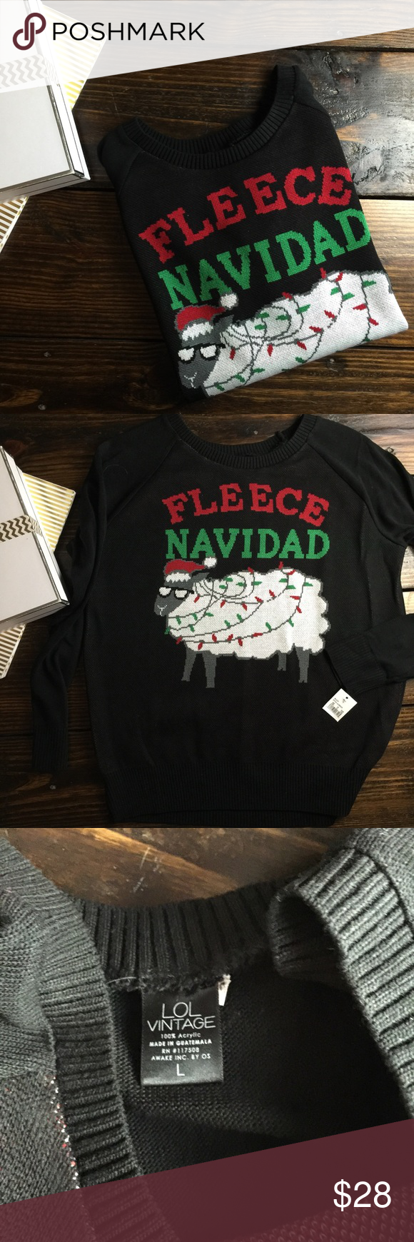 FLEECE Navid Christmas sweatshirt Adorable comfortable and super funny. What more could you want out of a Christmas sweatshirt! Sweaters Crew & Scoop Necks