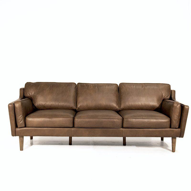 Kaufman Mid Century Modern Leather Sofa In 2019 4011 Lr Modern