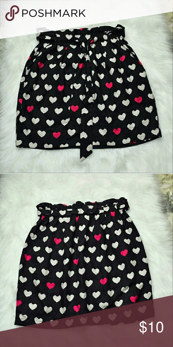 Adorable Pink Heart Skirt In great condition! Very girly and cute! Skirts Mini