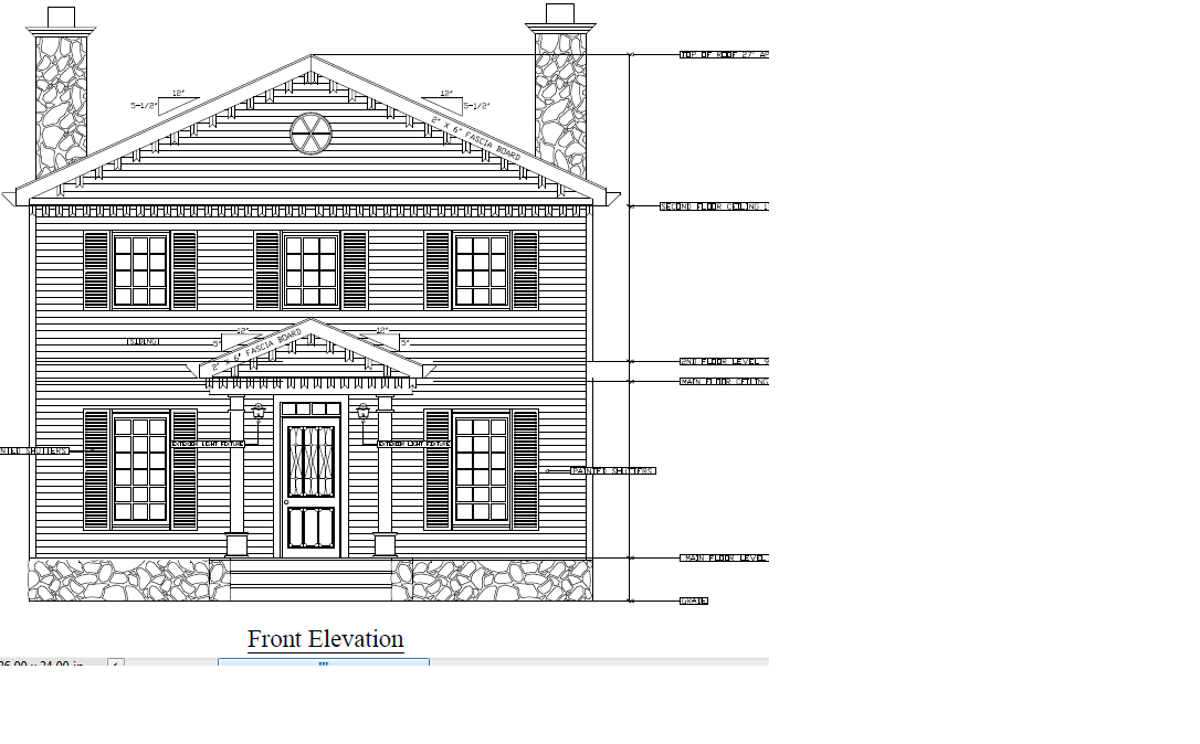2d House Front View This Picture Is A Perfect Example Of How Fast A Drawing Can Be Created Using Autocad I Completed In Less Tha Autocad Floor Plans Design