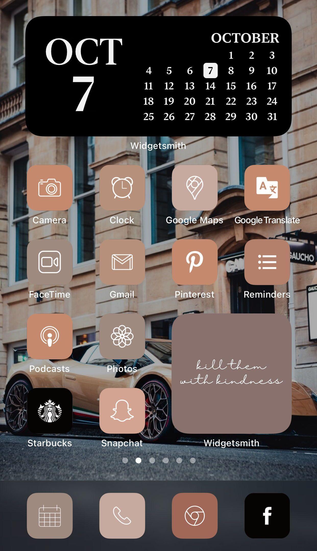 Luxury Black Brown Aesthetic 224 Iphone Ios 14 App Icons Etsy App Icon Brown Aesthetic App Covers