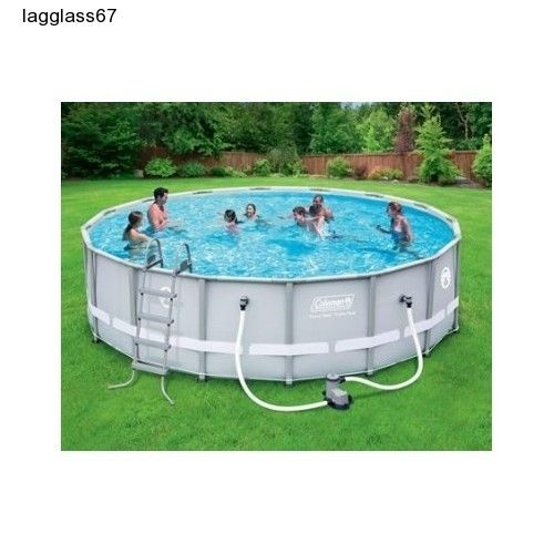 Steel Pro Frame Swimming Pool Complete Set Filter Pump 16