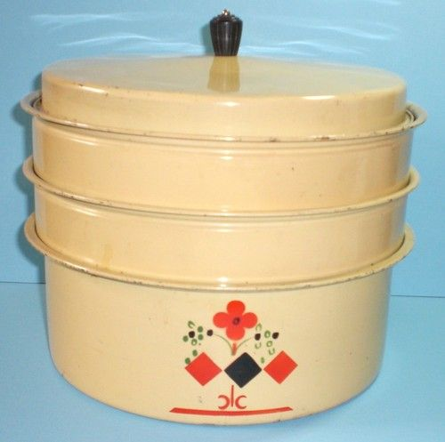 Cupcake Canisters For Kitchen: Vintage 4 Pc.tin Metal Cake Pie Pastry Cupcake Saver
