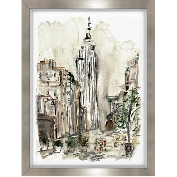 Lost in the City III Framed Wall Art (20,780 PHP) ❤ liked on ...