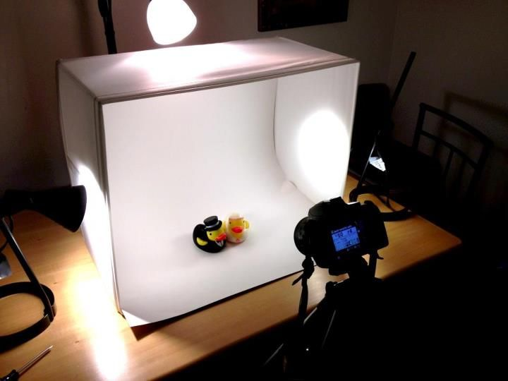 DIY 25 Light Box Made From Ikea Parts via Reddit Would be