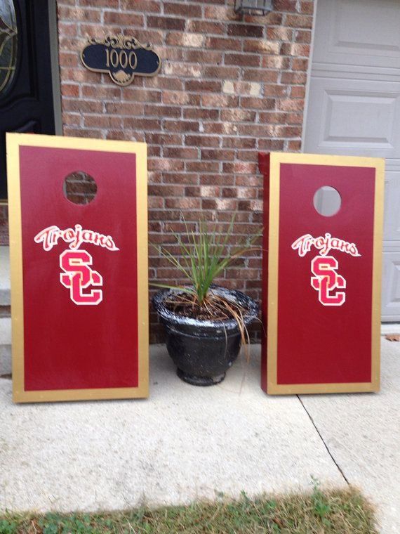 Wondrous Usc Trojans Bean Bag Toss My Fav Tailgating Game Lots Gamerscity Chair Design For Home Gamerscityorg
