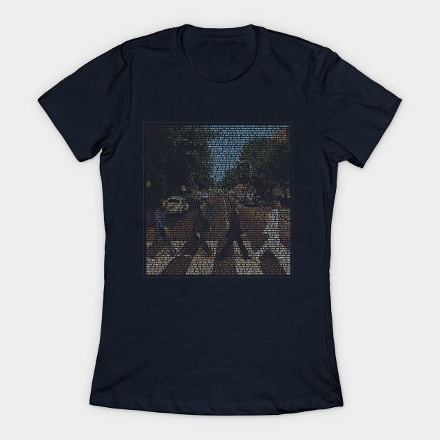'and In The End' - Abbey Road Lyric T-shirt Womens T-Shirt