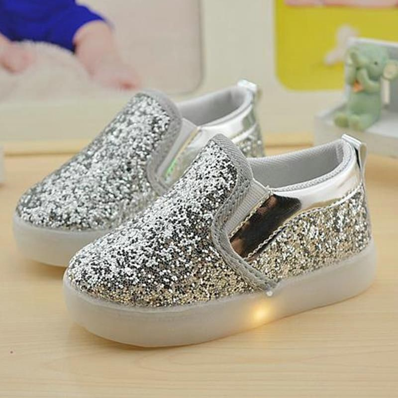 Baby Girls Boy Led Light Shoes Toddler Anti Slip Sports Boots Kids Sneakers Children Cartoon Sequins Pu Flats Kids Boots Childrens Shoes Girls Childrens Shoes