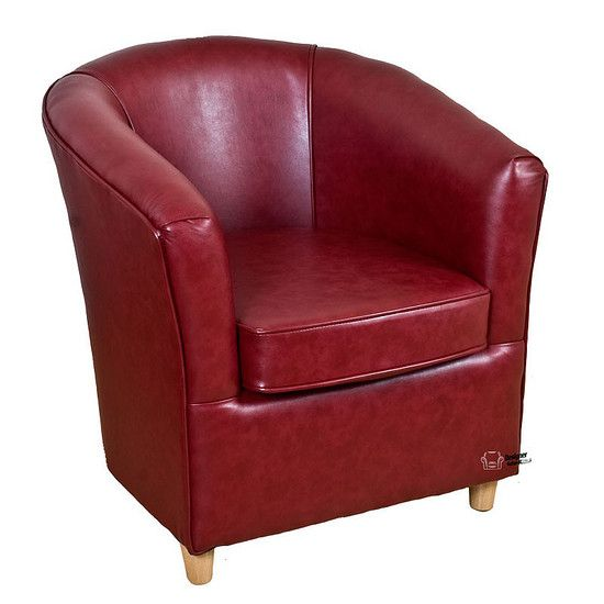 Leather Bucket Tub Chair Paprika Wine Tub Chairs Sofa