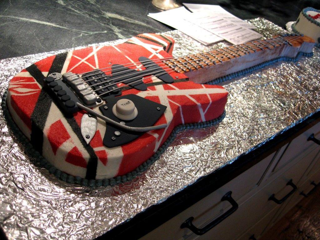 Eddy Van Halen Guitar Cake Van Halen Logo Guitar Cake Van Halen