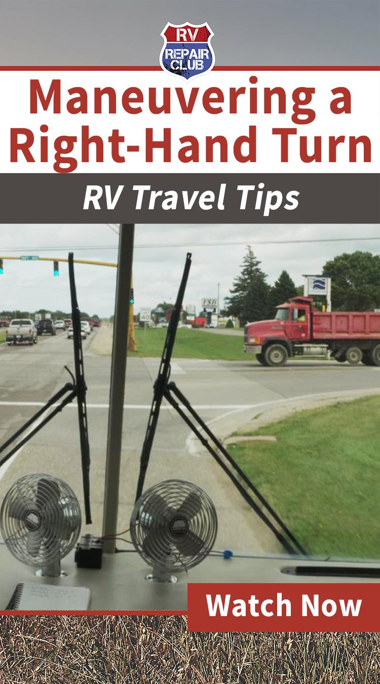 driving rv tips maneuvering a right hand turn rv info pinterest rh pinterest com