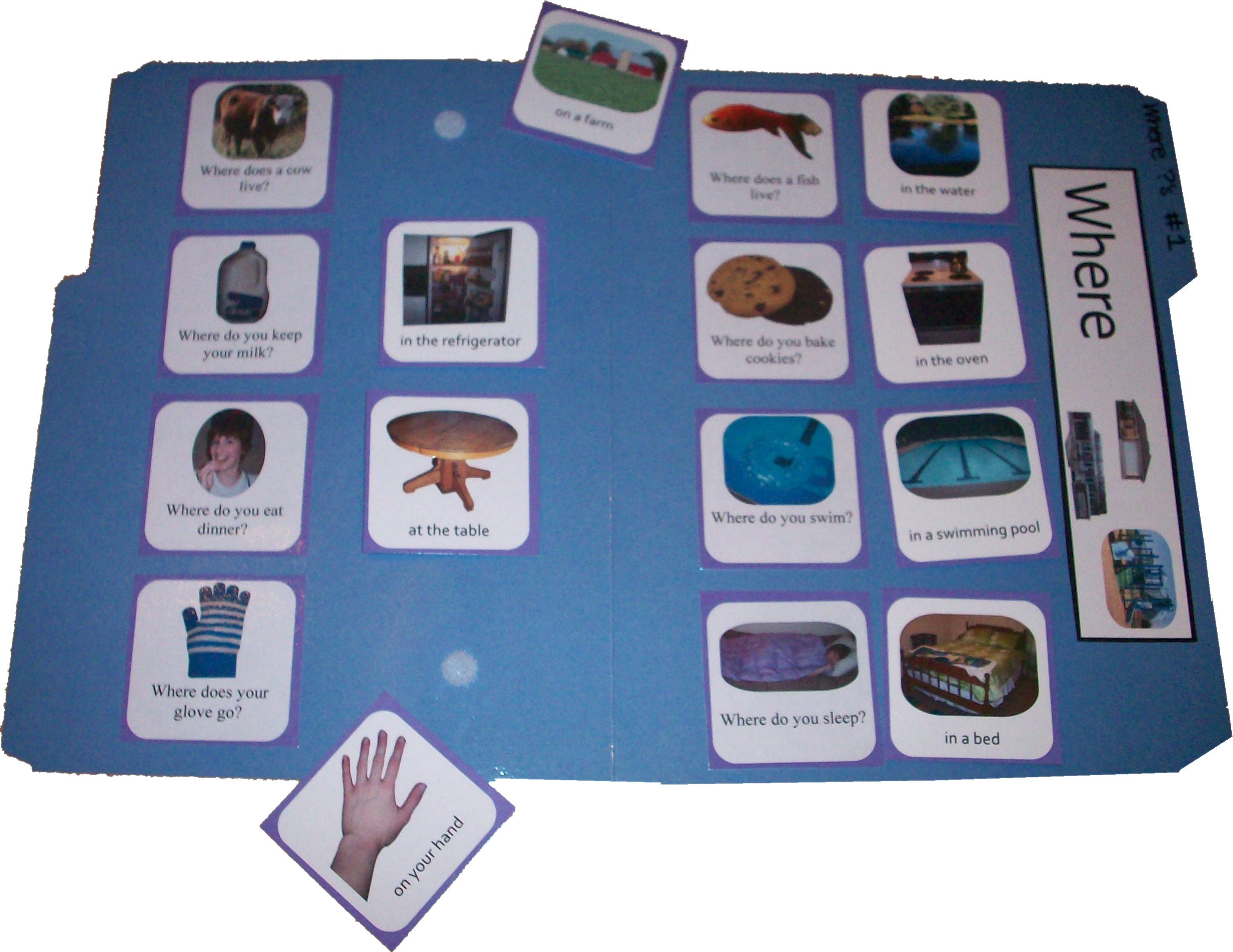 Where Questions File Folder Game Match Answers To Where Questions Using Photo Picture Cards