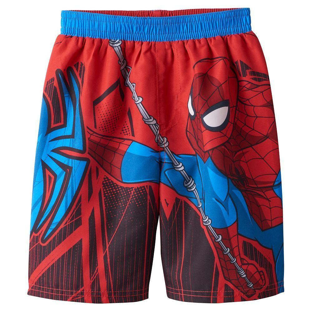 bba48f4c5450c Toddler Boy Marvel Spider-Man Swim Trunks, Size: 2T, Blue