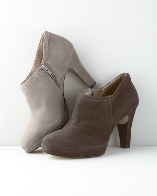 Nara Suede Heeled Shoes - Garnet Hill