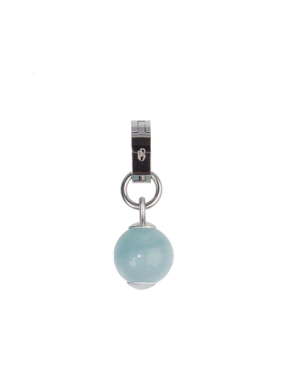 """Fancy and magical - silver-tone mini pendant """"Pixie Dust - Amazonite Dot"""" by Pedro de Bettencourt featuring a cabochon polished Amazonite - just clip-it!"""