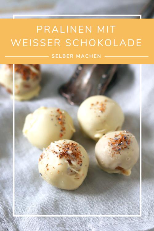 Selbst gemachte Pralinen mit weißer Schokolade - naschenmitdererdbeerqueen.de