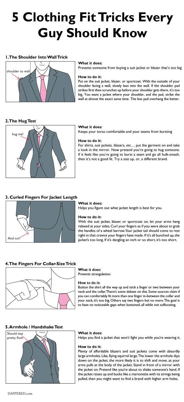 "839e3d8af3a733 5 Clothing ""Fit Tricks"" Every Guy Should Know (via  Dappered)"