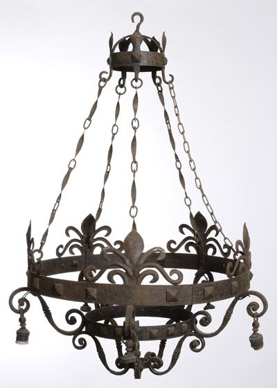 Wrought Iron Chandelier Made By Jose Thenee Iron Chandeliers Wrought Iron Light Fixtures Wrought Iron Chandeliers