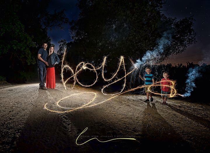Gender Reveal Sparkler Night Photography Gender Reveal Photography Baby Gender Reveal Gender Announcements