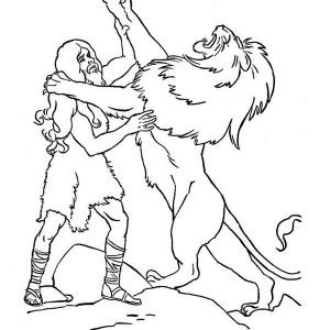 samson the legendary fight samson with a lion coloring page the amazing samson coloring page samson with jawbone of an ass coloring page samson - Samson Delilah Coloring Pages