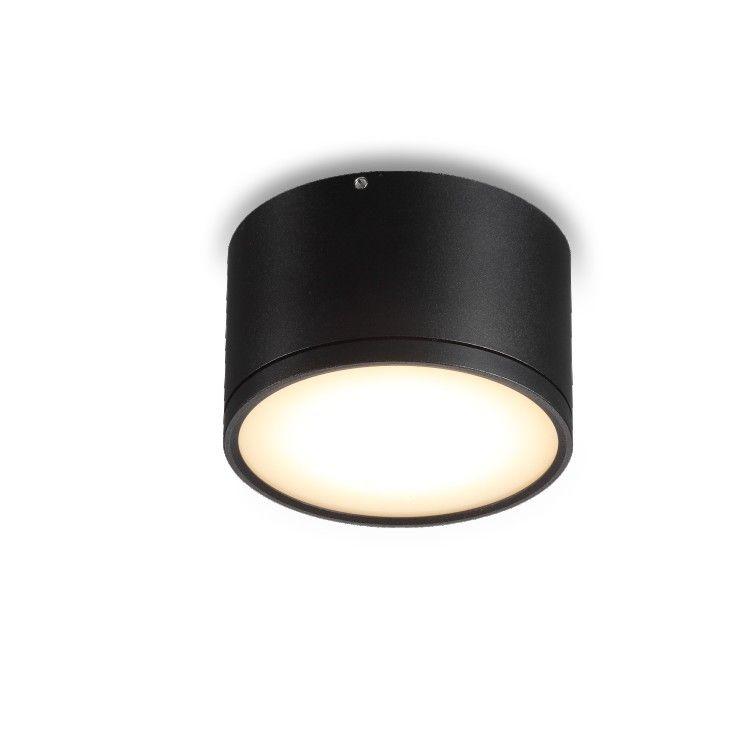 12 Watt Black Surface Mounted Led Downlight Fitting Downlights Light Fittings Interior Lighting