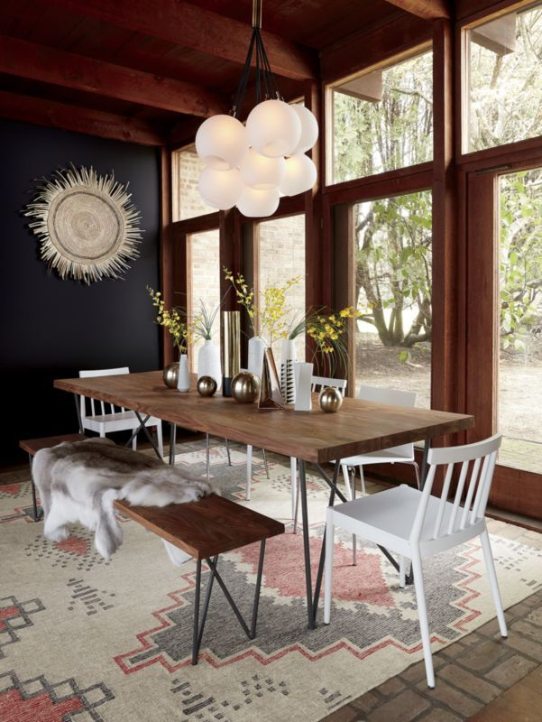 Mix Of Industrial And Mcm Dining Furniture Dining Table