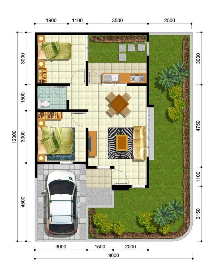 Desain Rumah Idaman 2 Lantai Bungalow Plan And Elevation