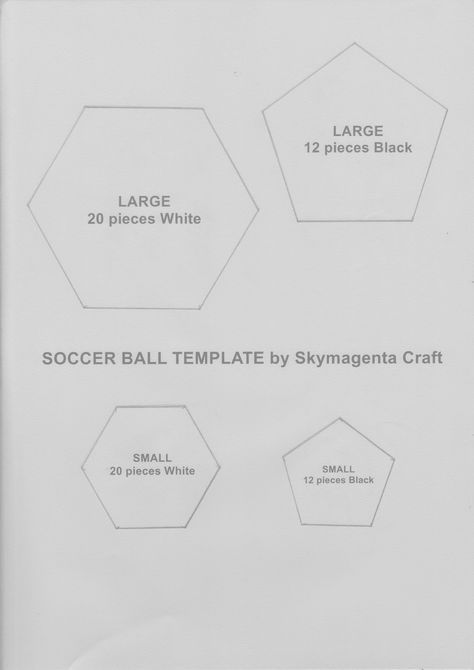 Felt Craft Tutorial   Soccer Ball Template (Crochet U0026 Craft   The Thinkableu2026