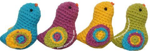 Amigurumi Bird Tutorial : Tutorial: pajaritos amigurumi (crochet) / Amigurumi birds ...
