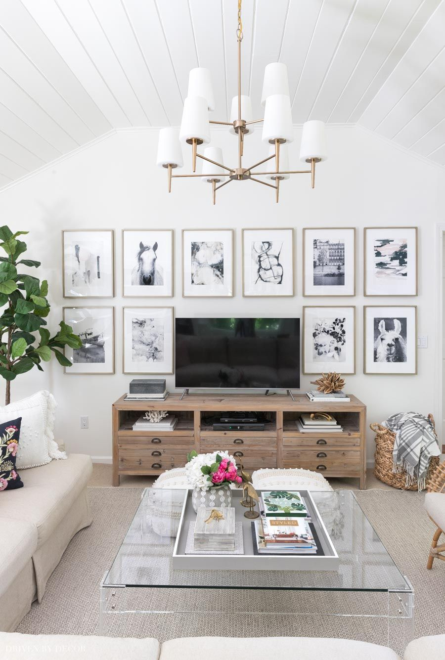 6 Living Room Wall Decor Ideas Say Goodbye To Those Bare Walls Driven By Decor In 2020 Wall Decor Living Room Living Room Wall Family Room Walls