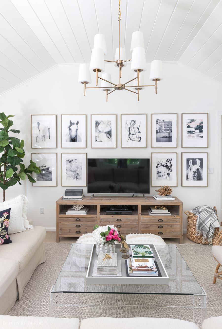 6 Living Room Wall Decor Ideas Say Goodbye To Those Bare Walls Driven By Decor Wall Decor Living Room Room Wall Decor Family Room Walls