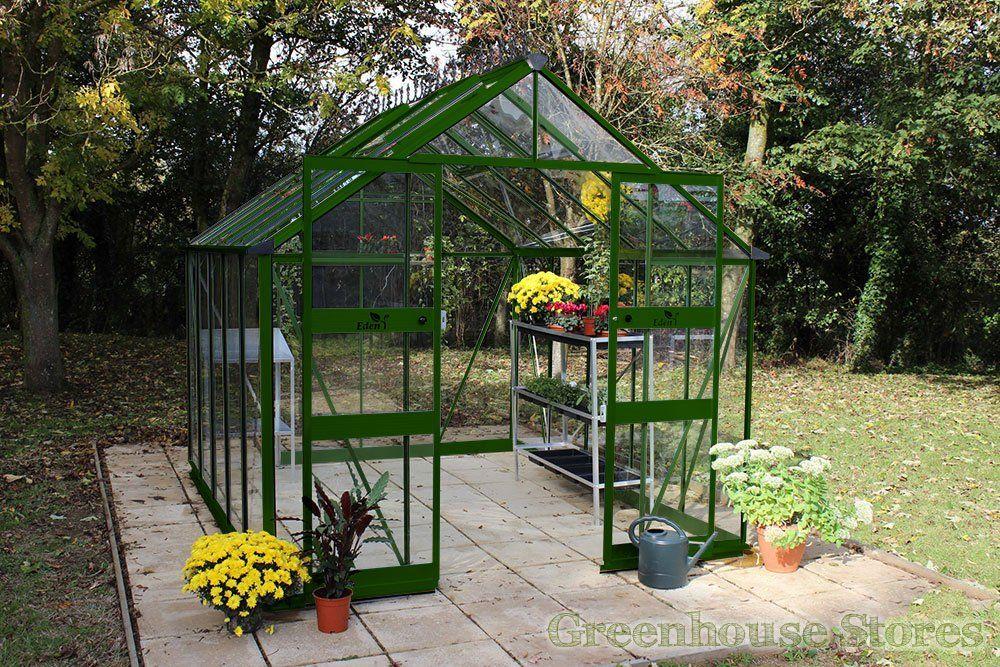 Eden Blockley Green 8x10 Greenhouse - Horticultural Glass