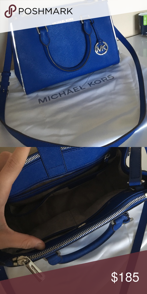 dfca80c59ac6 Royal blue MK bag Used once.. in brand new condition Michael Kors Bags  Crossbody Bags