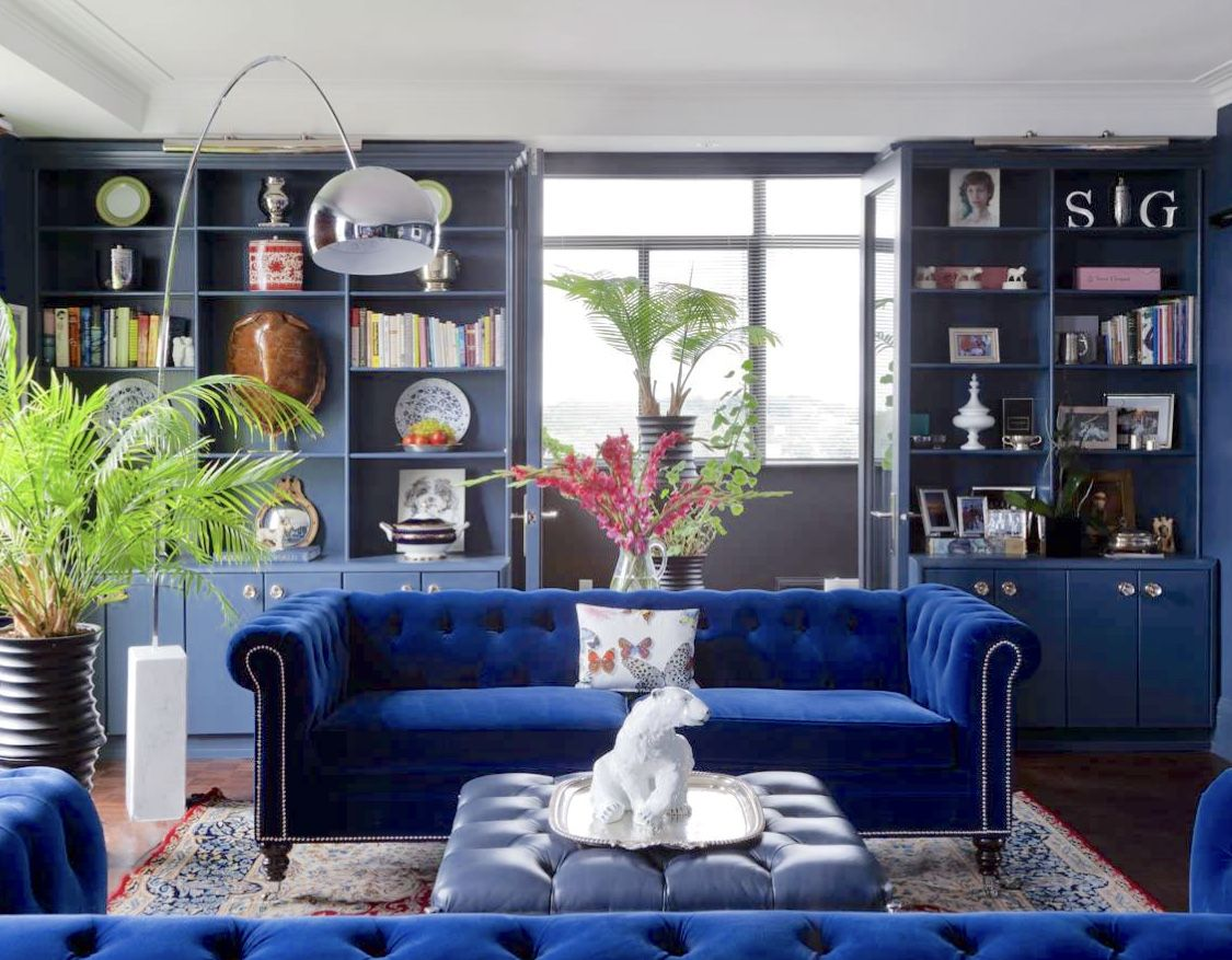Best Cobalt Blue Living Room Decor With Cobalt Blue Velvet 400 x 300