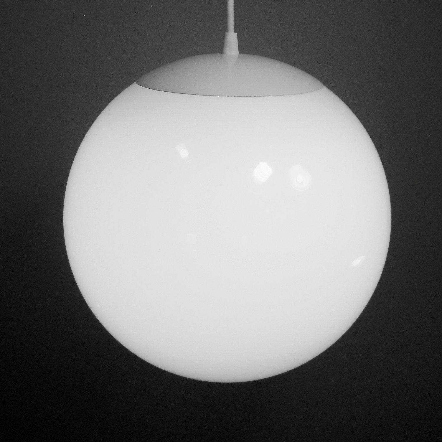 Pendant light large 12 inch glass globe mid century for Mid century modern pendant light fixtures