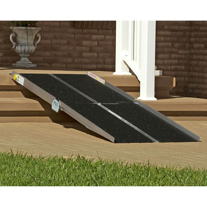 Handicap rampsMed Mart s Multifold Wheelchair Ramp Medical Equipment Product  . Portable Wheelchair Ramp For Home. Home Design Ideas