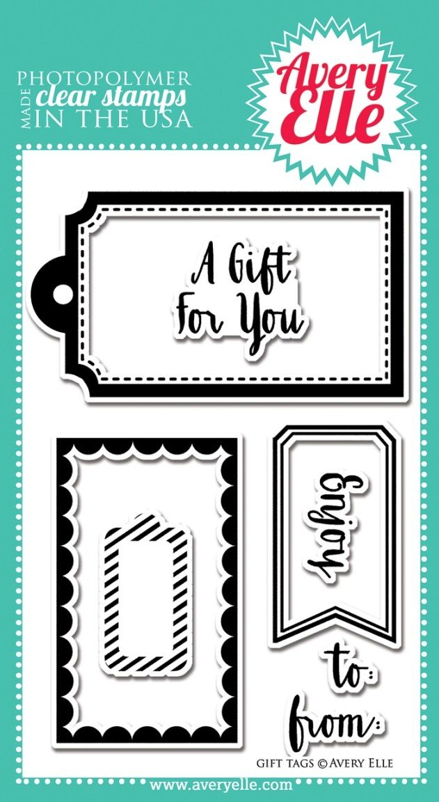 avery elle clear stamp gift tags wishlist pinterest