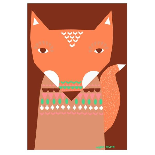 Donna Wilson - Fox unframed print