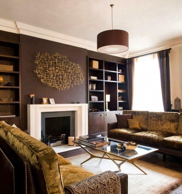 Peinture salon marron – 28 idées magnifiques pour l\'intérieur   Déco ...