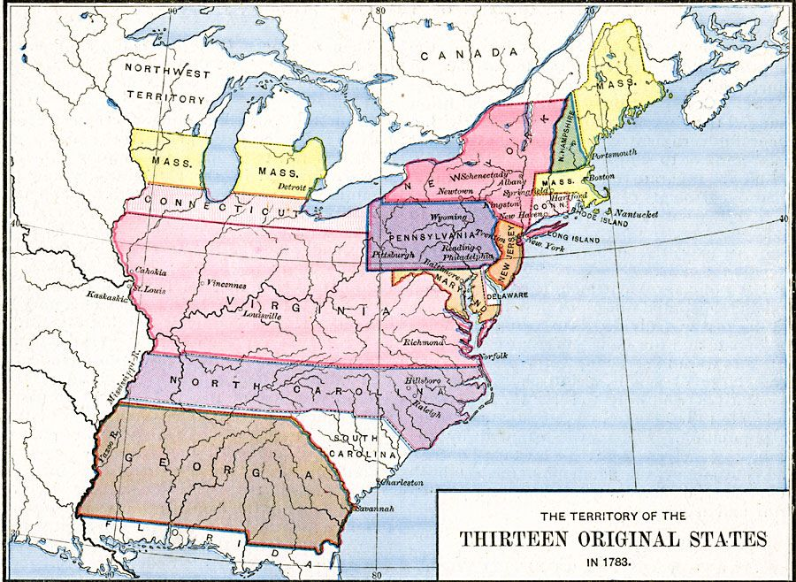 The Territory of the Thirteen Original States 1783 Cryptid