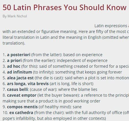 50 Latin Phrases You Should Know