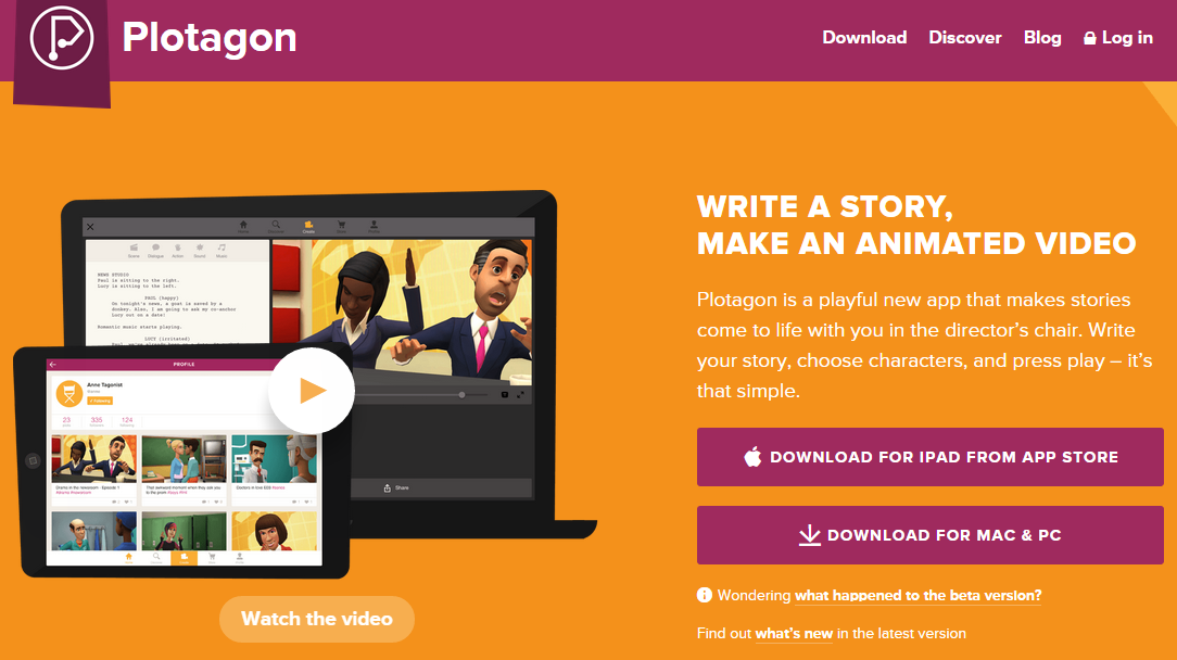 Plotagon- Make 3D animated cartoon videos with computer generated