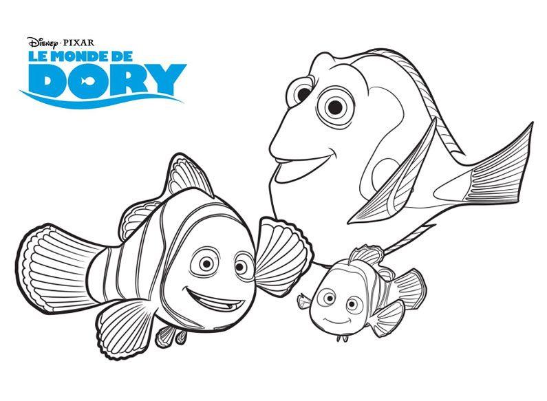 Coloriage Nemo.Coloriage Nemo Lyccee Buron