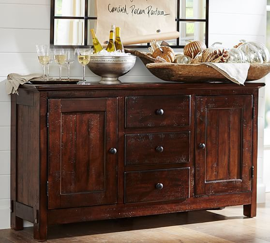 Benchwright Buffet Wood Buffet Dining Room Furniture Buffet Table