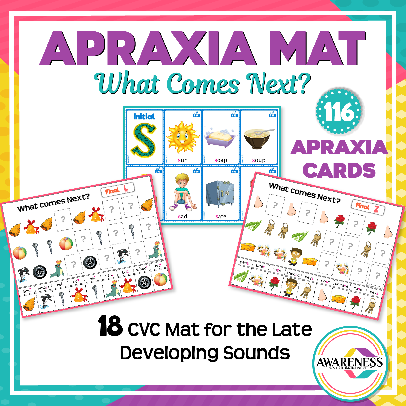 Apraxia Of Speech Cvc Worksheets And Apraxia Card Later