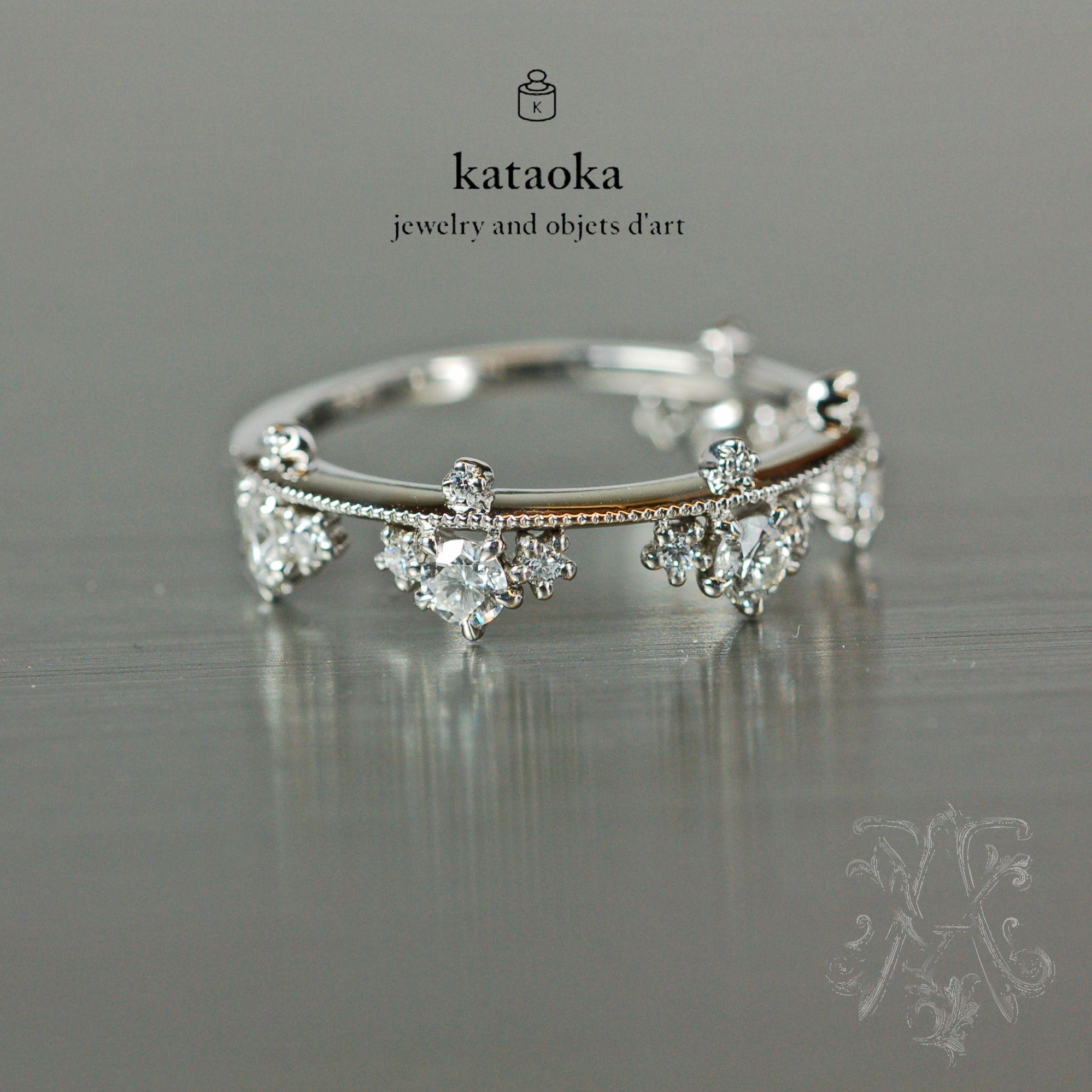 Kataoka Platinum And Diamond Ring Alchemyjeweler Com Kataoka