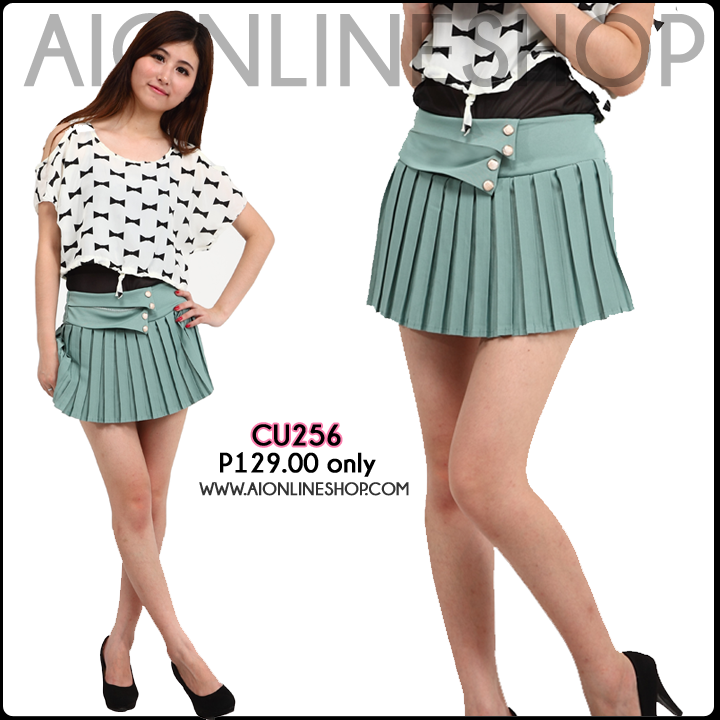 Pleated Skirt - P129.00 only!! Find this and more at http://aionlineshop.com/. Happy Shopping <3