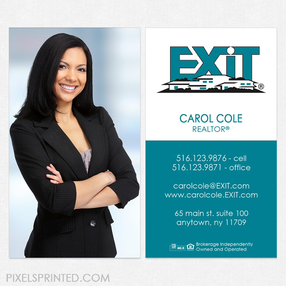Exit Real Estate Business Cards Gallery - Card Design And Card ...