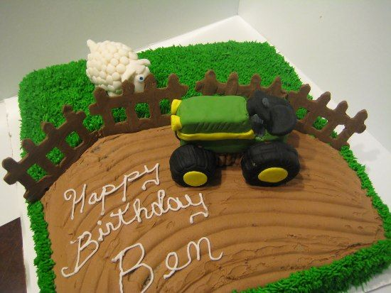 Tractor Birthday Cake Topper